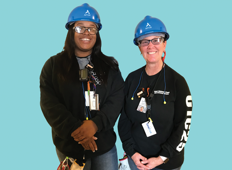(left to right) Shalonda Flowers (APTIM-MTIS) and Tracy Spitale (APTIM-Projects)